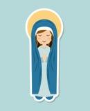 Holy Mary design Royalty Free Stock Photos