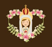 Holy Mary design. Over brown background, vector illustration Royalty Free Stock Photo