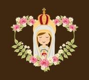 Holy Mary design Royalty Free Stock Photo