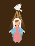 Holy Mary design Stock Photo
