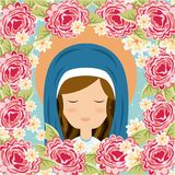 Holy Mary design Royalty Free Stock Images