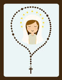Holy mary. Design , vector illustration Royalty Free Stock Photos