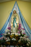 Holy Mary sculpture in Medugorje church in Bosnia Stock Image