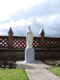 Holy Mary statue in Sveksna town church yard, Lithuania , Lithuania Royalty Free Stock Photos