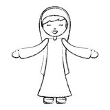 Holy mary virgin character. Vector illustration design Royalty Free Stock Photography