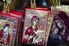 Holy Mary. Wallet souvenir from Athens Royalty Free Stock Photo