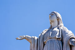 San Cristobal Virgin Mary Monument Stock Photo