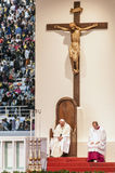 Holy mass with Pope Francis Stock Photography