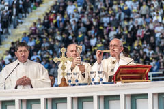 Holy mass with Pope Francis Royalty Free Stock Images