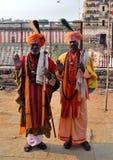 Holy men hampi india Royalty Free Stock Photo