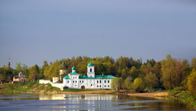 Holy Mirozh Monastery in Pskov Royalty Free Stock Image