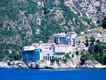 Holy monastery of Athos. In Greece Stock Photos
