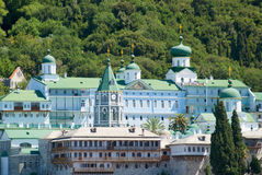 Holy monastery of athos Stock Photography