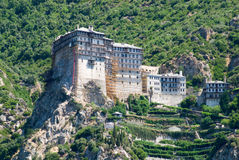 Holy monastery of athos Royalty Free Stock Image