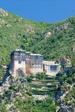 Holy monastery of athos Stock Images