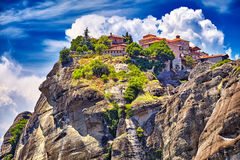 Holy Monastery of Grand Meteoran in Meteora mountains, Thessaly, Stock Photography