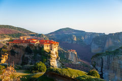 Holy Monastery of Great Meteoron on a day Stock Photos