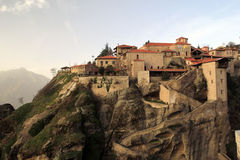 Holy Monastery of Great Meteoron Stock Photos