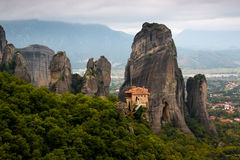 The Holy Monastery of Rousanou at the complex of  Meteora monast Royalty Free Stock Photography