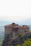 Holy Monastery of Rousanou in Meteora Stock Images
