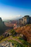 Holy Monastery of Rousanou in Meteora mountains Stock Image