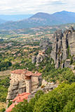 Holy Monastery of Rousanou in Meteora Stock Photography