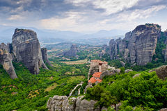 The Holy Monastery of Rousanou Stock Image