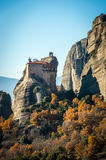 The Holy Monastery of Rousanou / St. Barbara in Meteora, Greece Stock Photo