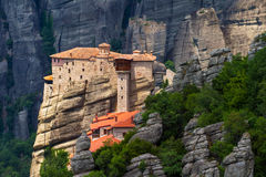 The Holy Monastery of Rousanou Stock Photo