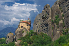 The Holy Monastery of Saint Nicholas Anapafsas, Meteors, Greece Stock Images