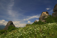 The Holy Monastery of Saint Nicholas Anapafsas, Meteors, Greece Royalty Free Stock Images