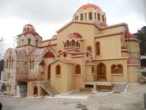 The Holy Monastery of Saints Cyprian and Justina - Fili, Attica, Greece stock image