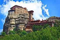 The Holy Monastery of St. Nicholas Anapausas, built in the 16th century. Meteora, Greece Royalty Free Stock Image
