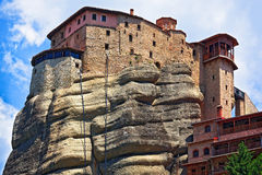 The Holy Monastery of St. Nicholas Anapausas, Meteora, Greece royalty free stock images