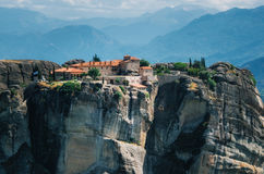 The Holy Monastery of St. Stephen at the complex of Meteora monasteries in Greece stock photography