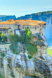 The Holy Monastery of Varlaam on the cliff at Meteora rocks, Greece Stock Photography