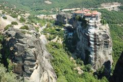 Holy Monastery of Varlaam,Meteora,Greece Royalty Free Stock Images