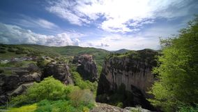Holy Monastery of Varlaam in Meteora stock video