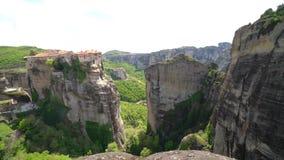 Holy Monastery of Varlaam in Meteora stock video footage