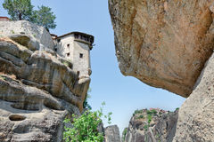 The Holy Monastery of Varlaam on the rock, Meteora, Greece Royalty Free Stock Image