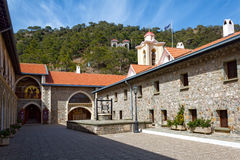 The Holy Monastery of the Virgin of Kykkos in Troodos mountains, Royalty Free Stock Images