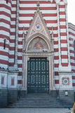 Holy Mother of Carmen church door Royalty Free Stock Images