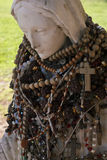 Holy mother statue- pray Stock Photos