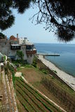 Holy Mount Athos. Monastery Xenofontos royalty free stock photos