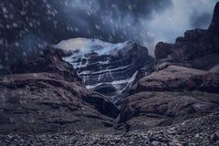 Holy Mount Kailash during snowfall Royalty Free Stock Photos