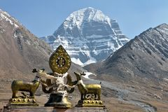 Holy Mount Kailash in Tibet Royalty Free Stock Photo