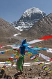 Holy Mount Kailash in Tibet Royalty Free Stock Images