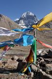 Holy Mount Kailash in Tibet Royalty Free Stock Image