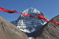Holy Mount Kailash in Tibet Royalty Free Stock Photos