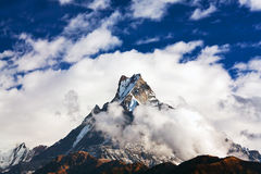 Holy Mount Machapuchare, Nepal Royalty Free Stock Photos